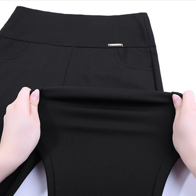 Plus Size Pencil Pants High Waist Pants 2019 New Fashion Women Skinny Female Casual Trousers High Stretch Leggings 6XL 7228 50