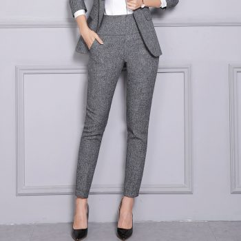 High Waist Formal OL Women's Pencil Pants Black Office Lady Pocket Business Trousers For Women 2019 Spring Summer Workou Clothes
