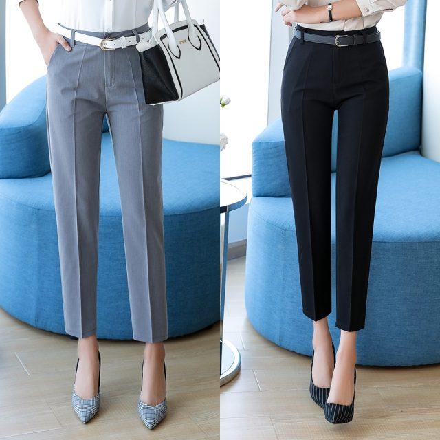 Office Lady Pencil Pants Women Autumn Spring Summer Casual Pantalon Femme Korean Style Slim Straight Leg Pant Womens Trousers
