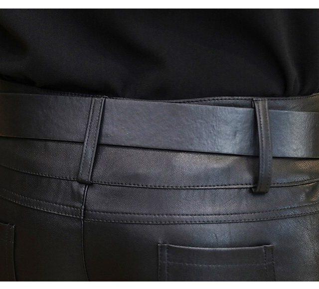 New 2019 Fashion Women Shorts PU Black Womens Shorts PU Leather Shorts Femme Sexy Motor Mini Shorts Femininos S~XL