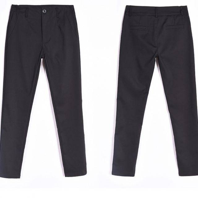 Pencil Pants for Women Office OL Work Wear Skinny Pants with Belt 2019 Autumn High Waist Female Vintage Trousers Pantalon Femme