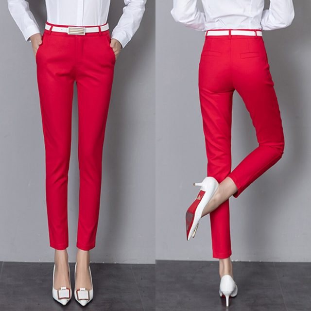 Women Pants 2019 New Summer Casual Ladies Office Wear Ankle-length Pencil Pants Leggings Elastic Trousers Women Bodycon Trousers