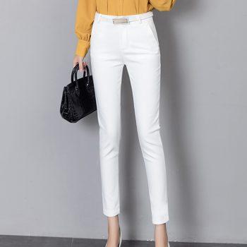 Summer Women Formal Pants Workwear 2019 Autumn Ankle-length Stretch Lady Pencil Trousers High Waist Capris Slim Bodycon Leggings