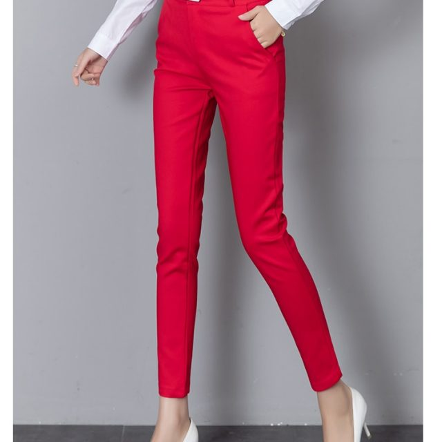 Summer Women Formal Pants Workwear 2019 Autumn Ankle-length Stretch Lady Pencil Trousers High Waist Capris Slim Bodycon Leggings