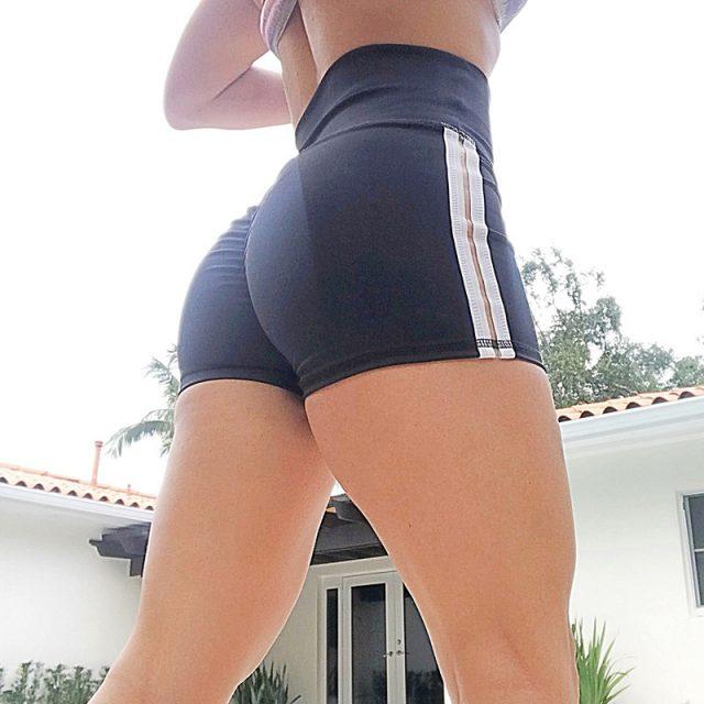 Summer Women Shorts Hight Waist Patchwork Elastis Waist Waistband Skinny Casual Short Pants spodenki damskie