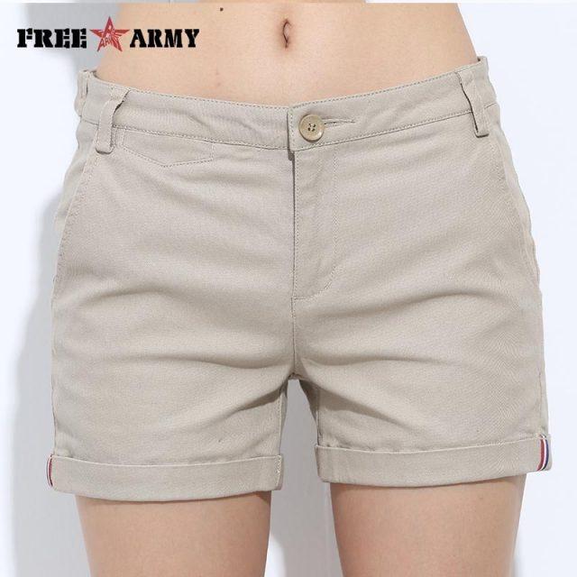 FREEARMY Mini Women's Sexy Short Shorts Summer Slim Hot Casual Shorts Girls Military Cotton Shorts 4 Colors Plus Size Female