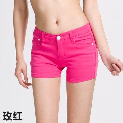 2019 Summer Womens Casual Jeans Shorts Plus Size Ladies Solid White Black Denim Shorts Female Slim Leisure Denim Shorts Feminino