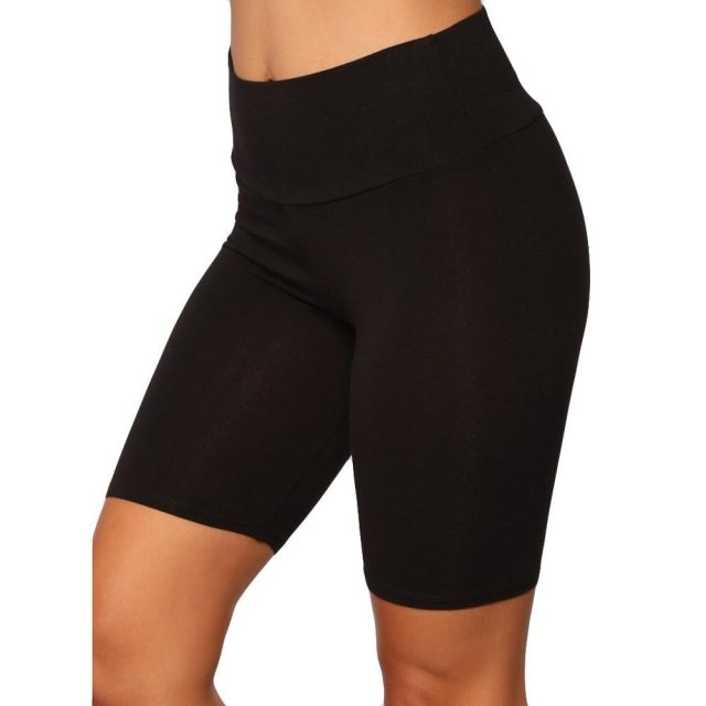 Women Short Fashion Solid High Elasticity Active Dance Cycling Shorts Short Gym Workout Fitness Female Running legins corto  SO3