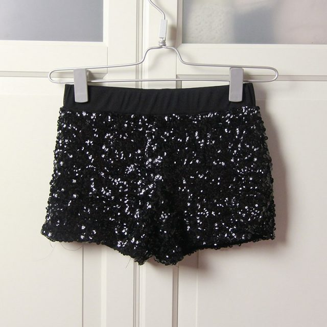Sexy Dance Shorts Shiny Mini Sequined Shorts Hip-Hop Night Club Jazz Dancer Shorts Sequins Details Pole Dancing Clubwear FX2029
