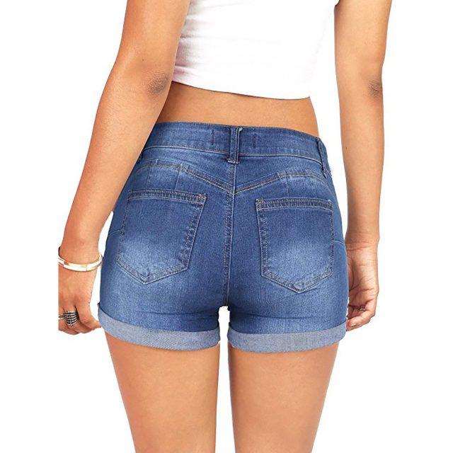 women's shorts Women Low Waisted Washed Ripped Hole Short Mini Jeans Denim summer Shorts feminino