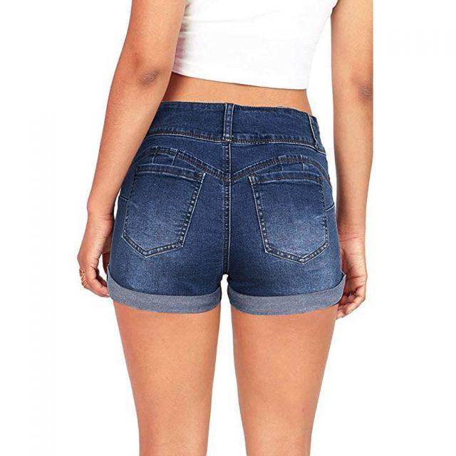 CHAMSGEND Sexy Shorts Women Summer Denim Shorts Jeans Stylish Ladies Low Waist Regular Short Mujer Spodenki Damskie 2019 L0514