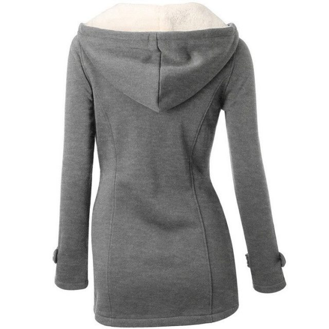 Women Trench Coat 2019 New Autumn Winter Women's Overcoat Female Long Hooded wool blend Coat Zipper Horn Button Outwear