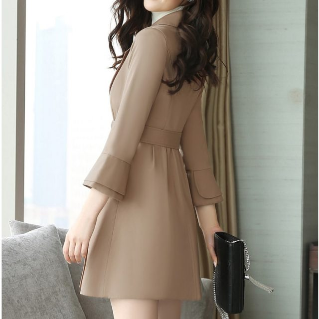 2019 New Spring Autumn Women's Korean Windbreaker Female Large Size Long section Chic Trench Coats