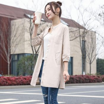 2019 Autumn New High Fashion Brand Woman Classic Double Breasted Trench Coat Waterproof Raincoat Business Outerwear