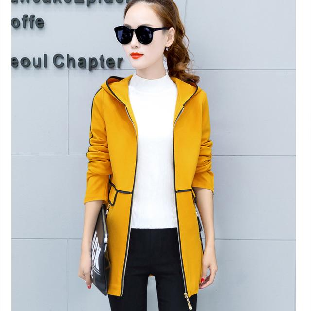 new hot autumn overcoats women's trench coats long sleeve fashion turn-down collar overwear clothing Black Outwear
