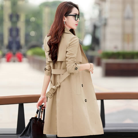 Spring Trench Coat for Women Streetwear Turn-down Collar Double Breasted Coats Female Plus Size 3XL XXXL Sobretudo Feminino
