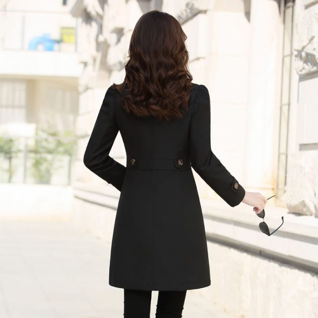 Spring Autumn Trench Coat Slim Single Breasted Trench Coat  Woman Trench Coat Long Plus Size Coat For Women Windbreakers Outwear