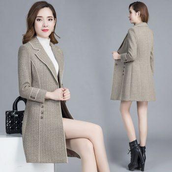 Casual  Women Long trench Coat 2019 New Arrive Korean Style Long Sleeve Windbreaker Female