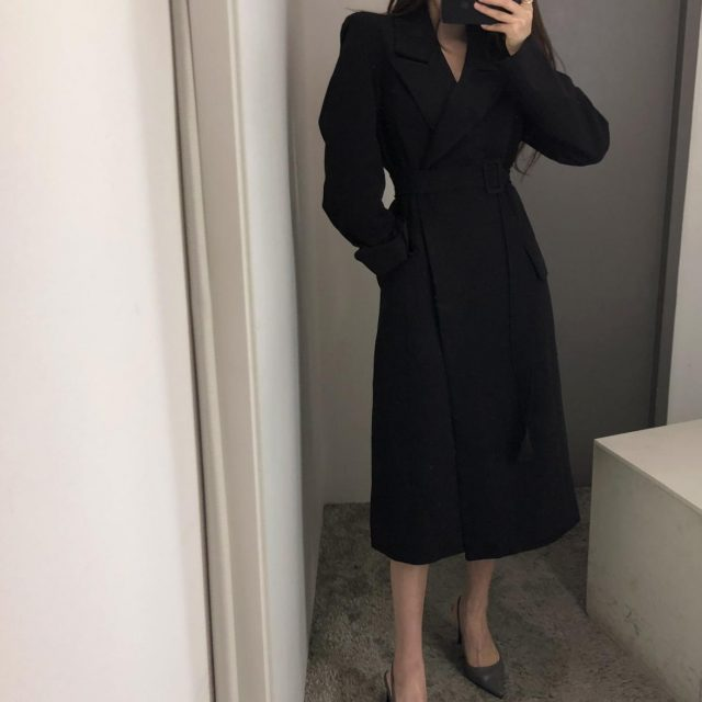 New spring autumn fashion Casual women's Trench Coat long Outerwear loose clothes for lady with belt