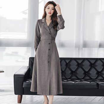 Fashion women comfortable warm slim long coat new arrival high quality temperament outerwear holiday outdoor formal trend trench