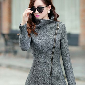 Europe autumn winter women's woolen jackets coats fashion slim jackets coats casual warm outwear plus size