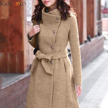 KANCOOLD Women Winter 1PC Trench Coat For Women Double Breasted Slim Fit Long Spring Coat Autumn Outerwear Overcoat Outwear