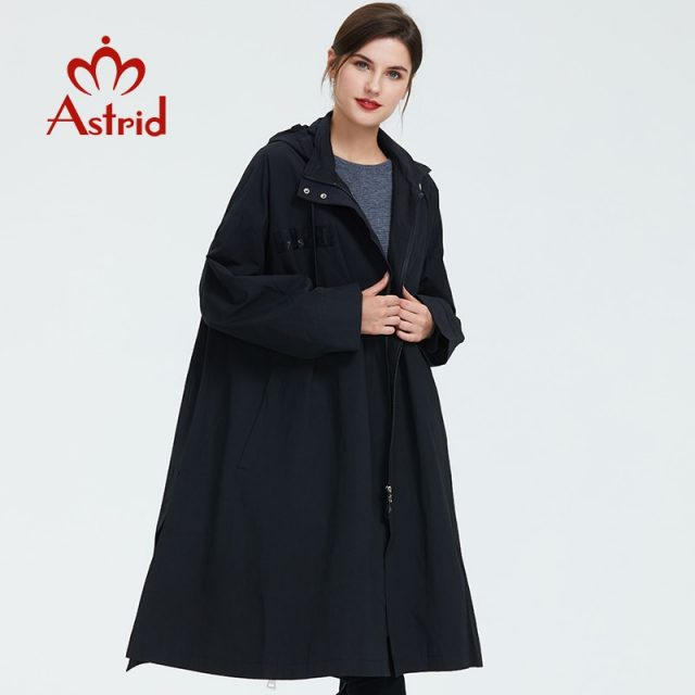 Astrid trench coat Women Hooded Plus Size high quality Windbreaker fashion Gothic Long Loose Suitable for everyone coat 2019 B02