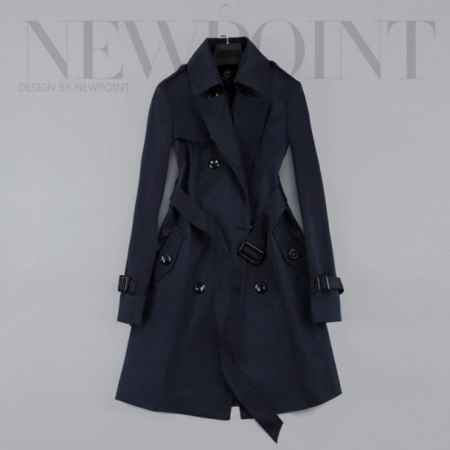 2019 New Fashion Double Breasted Mid-long Trench Coat Women Khaki Slim Belt Cloak Mujer Windbreaker Female Abrigos Brazil LH810