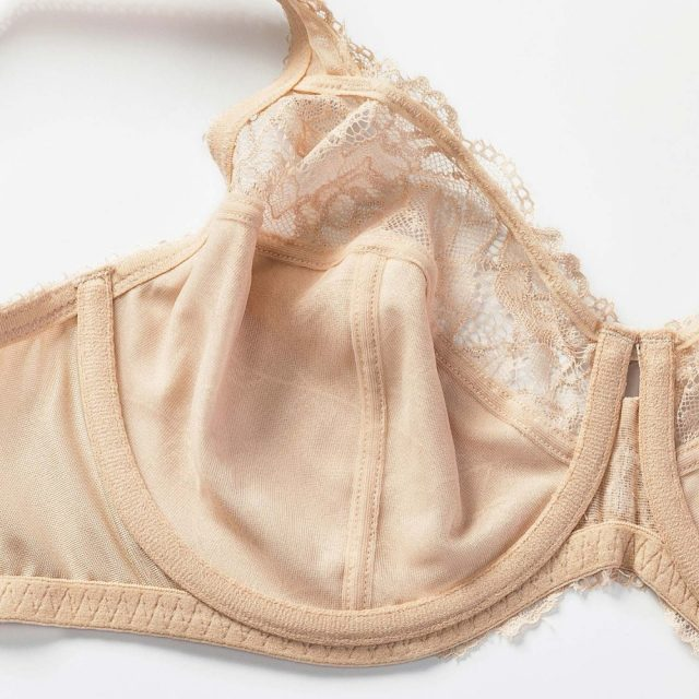 New Women's Full Coverage Minimizer Jacquard Non Padded Lace Sheer Bra