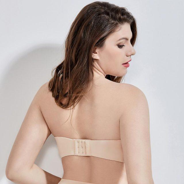 Women's Seamless Contour Underwire Full Figure Plus Size Multiway Strapless Bra