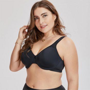 Women's Smooth Full Figure Underwire Seamless Minimizer Bra Plus size