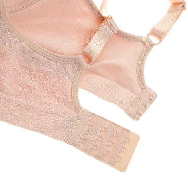 Women's Jacquard Everyday Comfort Seamless Padded Foam Contour Plus Size Wire Free Bra