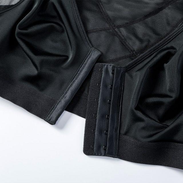 New Front Closure Back Support Posture Bra Black White Beige 34-40 B C D DD