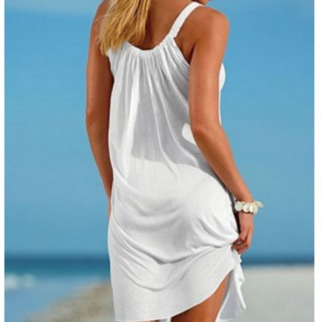 Summer Beach Dress Boho Strap Loose Sexy Vest Dress Women Sleeveless Sundress Casual Plus Size Short White Dress Black Vestidos