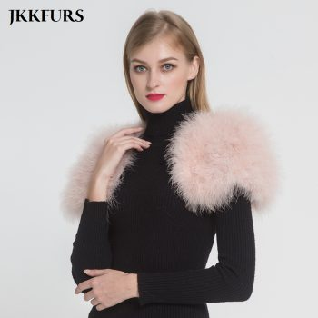 2019 Women Real Fur Cape Shrug Genuine Ostrich Feather Fur Shawl Poncho Fashion Wedding Hot Sale One Size S1264
