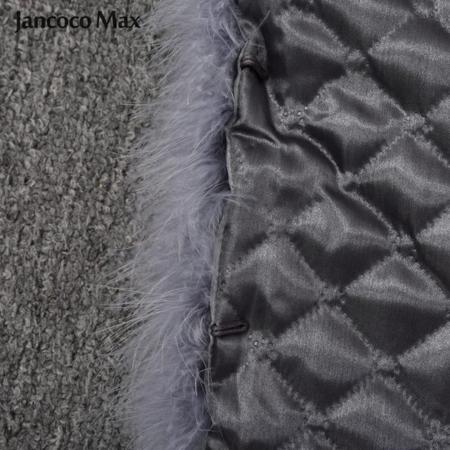 New Arrival Women Real Ostrich Fur Long Coat Casual Lady Natural Fur Jacket Turkey Feather S7381