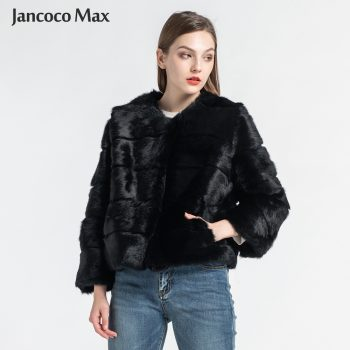 Women's Real Rabbit Fur Coats Fashion Natural Fur Short Jacket High Quality Lady Overcoat S1538