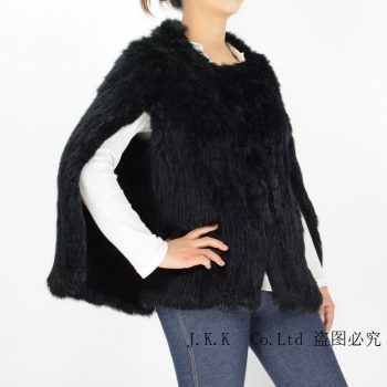 Jancoco Max 2017 Thick Knitted Real Rabbit Fur Jacket Women Winter Fashion New Design Wholesale / Retail S1607