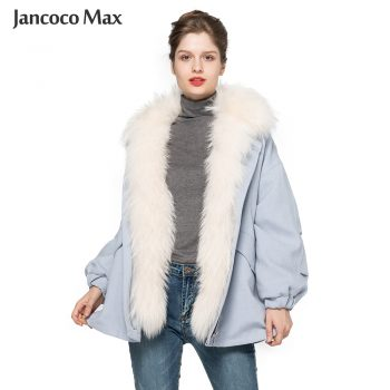 2019 New Arrival Women's Real Fur Jackets Winter Thick Warm Oversize Natural Fur Coats Top Quality Overcoat S7624