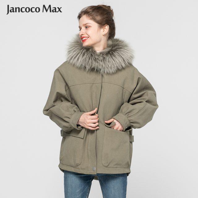 New Winter Fashion Real Fur Coats Women Natural Fox Fur Lining Female Jackets Raccoon Fur Hood Outerwear S7625