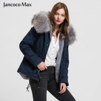 Women Fashion Fur Parka Real Raccoon Fur Big Collar Parkers Hooded Coat Detachable S1722