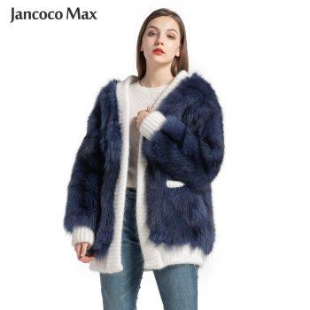 Women's Real Fox Fur Jacket Autumn Winter Warm Sweater Natural Fur Female Coats New Arrival S7571