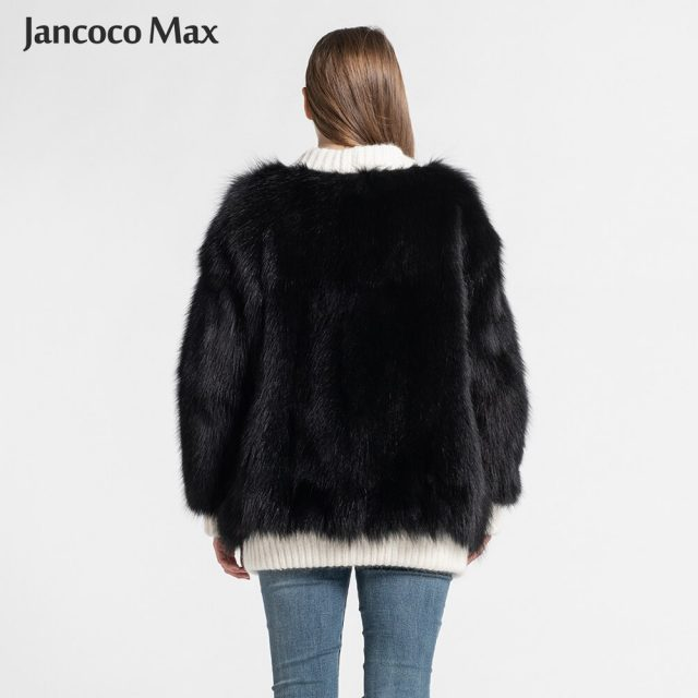 Women's Real Fox Fur Jacket Autumn Winter Warm Sweater Natural Fur Female Coats New Arrival S7571