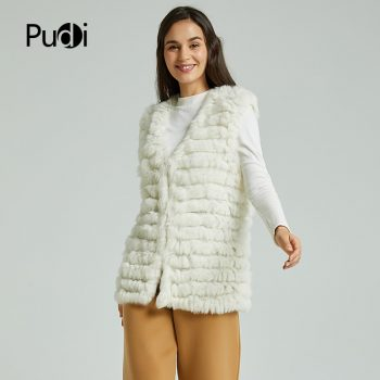 VT801 new women fashion warm fur vests rabbit hair fur coat  warm with a variety of color optional beige black plus size