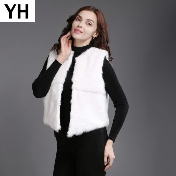 2019 Brand Real Rabbit Fur Short Style Vest Winter Lady Real Natural Rabbit Fur Gilet New Casual Women Real Rabbit Fur Waistcoat
