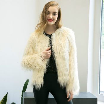 6XL Sale Faux Fur Wool Women's 2019 new Jackets Fur Coats Winter Jacket Women warm longhair faux fur coats jackets Fashion