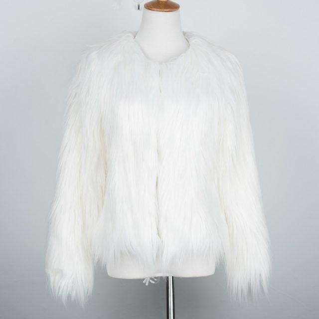 6XL Sale Faux Fur Wool Women's 2019 new Jackets Fur Coats Winter Jacket Women warm longhair faux fur coats jackets Fashion