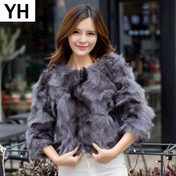 Hot Sale Women Real 100% Natural Fox Fur Jacket Lady Genuine Real Fox Fur Outerwear Short Style Slim Fashion Real Fox Fur Coat