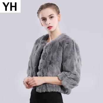 2019 Hot Sale Autumn Winter Genuine Real Rex Fur Jacket Short Women Fashion Rex Rabbit Fur Coat Natural Rex Rabbit Fur Overcoat