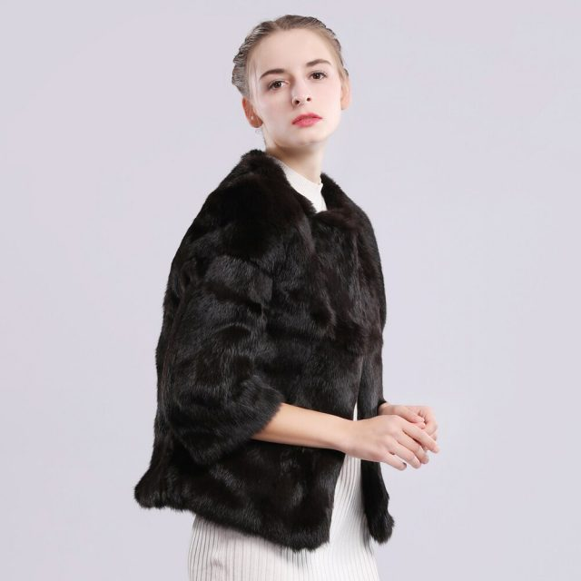 Hot Sale Autumn Winter Genuine Full Pelt Real Fur Jacket Women Real Rabbit Fur Coat Natural Fur Coats Slim Rabbit Fur Overcoat